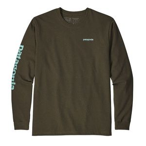 Patagonia, Long-Sleeved Text Logo Poly/Cotton Resp